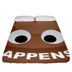 Poo Happens Fitted Sheet (queen Size)