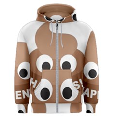 Poo Happens Men s Zipper Hoodie