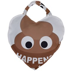 Poo Happens Giant Heart Shaped Tote by Vitalitee