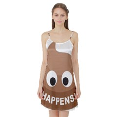 Poo Happens Satin Night Slip