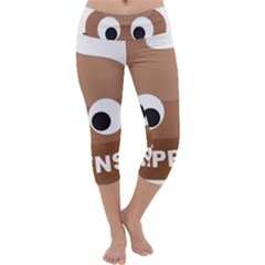 Poo Happens Capri Yoga Leggings