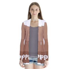 Poo Happens Drape Collar Cardigan by Vitalitee