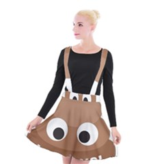 Poo Happens Suspender Skater Skirt