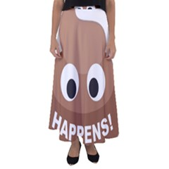 Poo Happens Flared Maxi Skirt