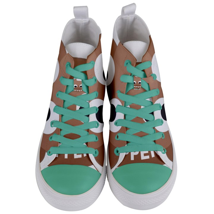 Poo Happens Women s Mid-Top Canvas Sneakers