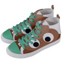 Poo Happens Women s Mid-Top Canvas Sneakers View2