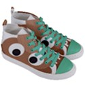 Poo Happens Women s Mid-Top Canvas Sneakers View3