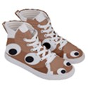 Poo Happens Women s Hi-Top Skate Sneakers View3