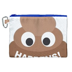 Poo Happens Canvas Cosmetic Bag (xl) by Vitalitee