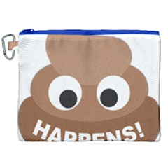 Poo Happens Canvas Cosmetic Bag (xxl) by Vitalitee