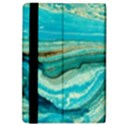 Mint,gold,marble,nature,stone,pattern,modern,chic,elegant,beautiful,trendy iPad Air Flip View4