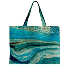 Mint,gold,marble,nature,stone,pattern,modern,chic,elegant,beautiful,trendy Mini Tote Bag by 8fugoso