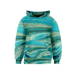 Mint,gold,marble,nature,stone,pattern,modern,chic,elegant,beautiful,trendy Kids  Pullover Hoodie