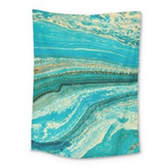 Mint,gold,marble,nature,stone,pattern,modern,chic,elegant,beautiful,trendy Medium Tapestry