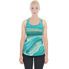 Mint,gold,marble,nature,stone,pattern,modern,chic,elegant,beautiful,trendy Piece Up Tank Top