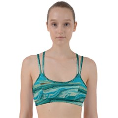 Mint,gold,marble,nature,stone,pattern,modern,chic,elegant,beautiful,trendy Line Them Up Sports Bra