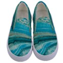 Mint,gold,marble,nature,stone,pattern,modern,chic,elegant,beautiful,trendy Kids  Canvas Slip Ons View1