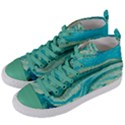 Mint,gold,marble,nature,stone,pattern,modern,chic,elegant,beautiful,trendy Women s Mid-Top Canvas Sneakers View2
