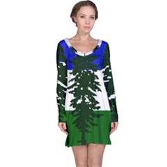 Flag Of Cascadia Long Sleeve Nightdress by abbeyz71