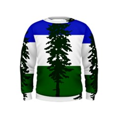 Flag Of Cascadia Kids  Sweatshirt by abbeyz71