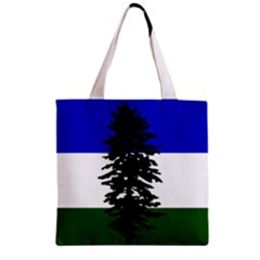 Flag Of Cascadia Zipper Grocery Tote Bag by abbeyz71