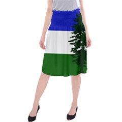 Flag Of Cascadia Midi Beach Skirt by abbeyz71
