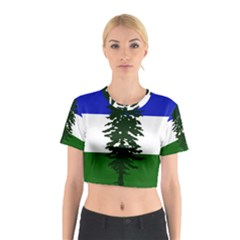 Flag Of Cascadia Cotton Crop Top by abbeyz71