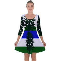 Flag Of Cascadia Quarter Sleeve Skater Dress by abbeyz71