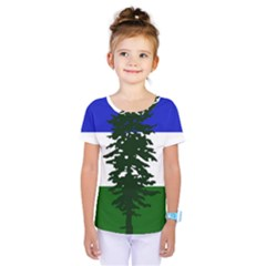 Flag Of Cascadia Kids  One Piece Tee by abbeyz71