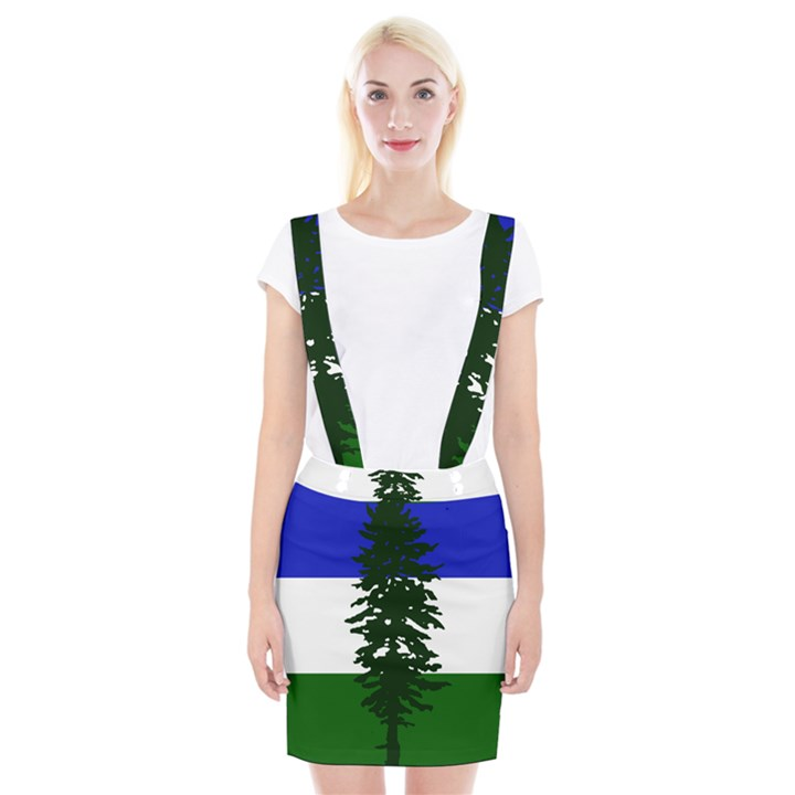 Flag of Cascadia Braces Suspender Skirt