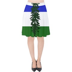 Flag Of Cascadia Velvet High Waist Skirt
