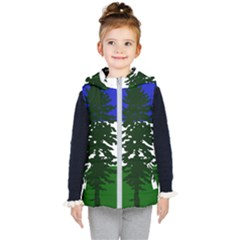 Flag Of Cascadia Kid s Puffer Vest