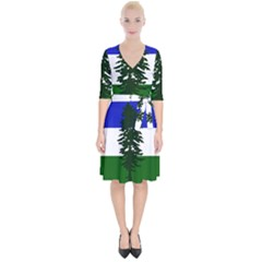 Flag Of Cascadia Wrap Up Cocktail Dress
