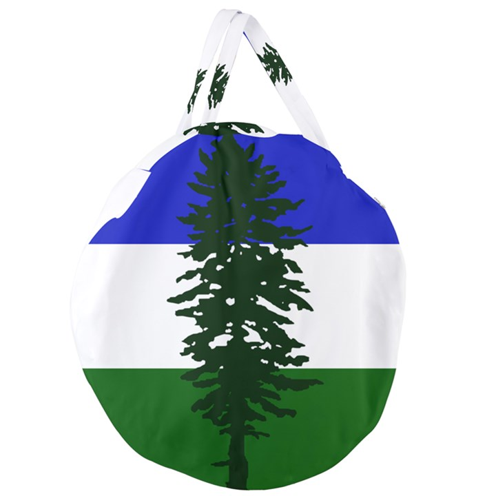 Flag of Cascadia Giant Round Zipper Tote