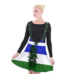 Flag Of Cascadia Suspender Skater Skirt by abbeyz71