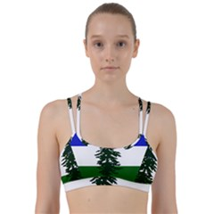 Flag Of Cascadia Line Them Up Sports Bra