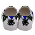 Flag of Cascadia Men s Canvas Slip Ons View4