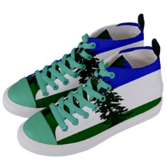 Flag Of Cascadia Women s Mid Top Canvas Sneakers by abbeyz71