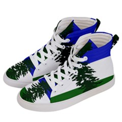 Flag Of Cascadia Women s Hi Top Skate Sneakers by abbeyz71