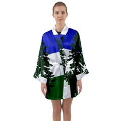 Flag Of Cascadia Long Sleeve Kimono Robe by abbeyz71