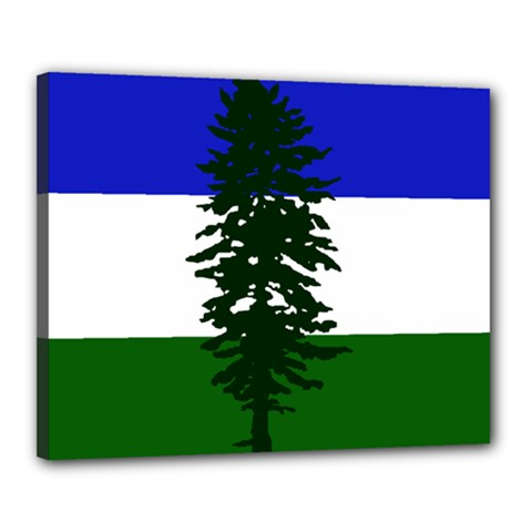 Flag Of Cascadia Canvas 20  X 16  by abbeyz71