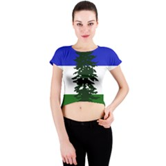 Flag Of Cascadia Crew Neck Crop Top by abbeyz71