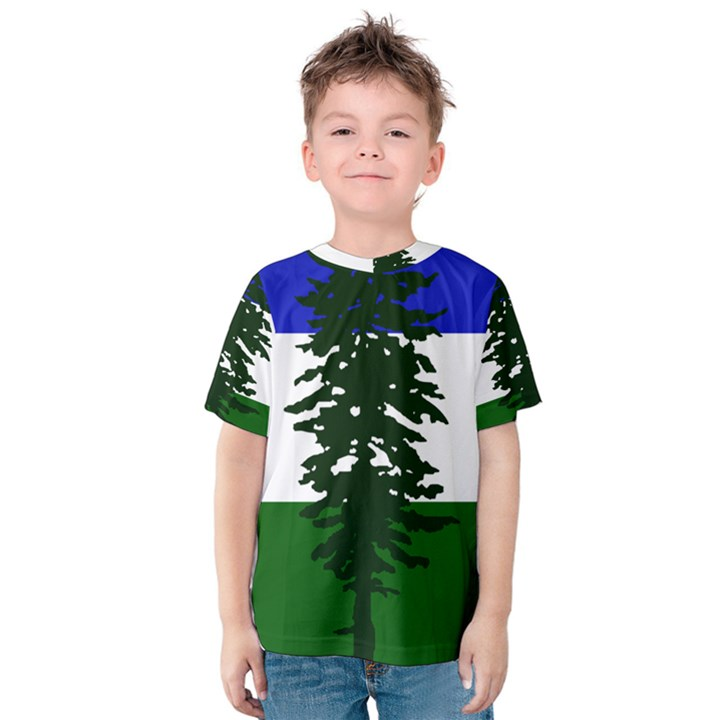 Flag of Cascadia Kids  Cotton Tee
