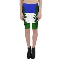 Flag Of Cascadia Cropped Leggings  by abbeyz71
