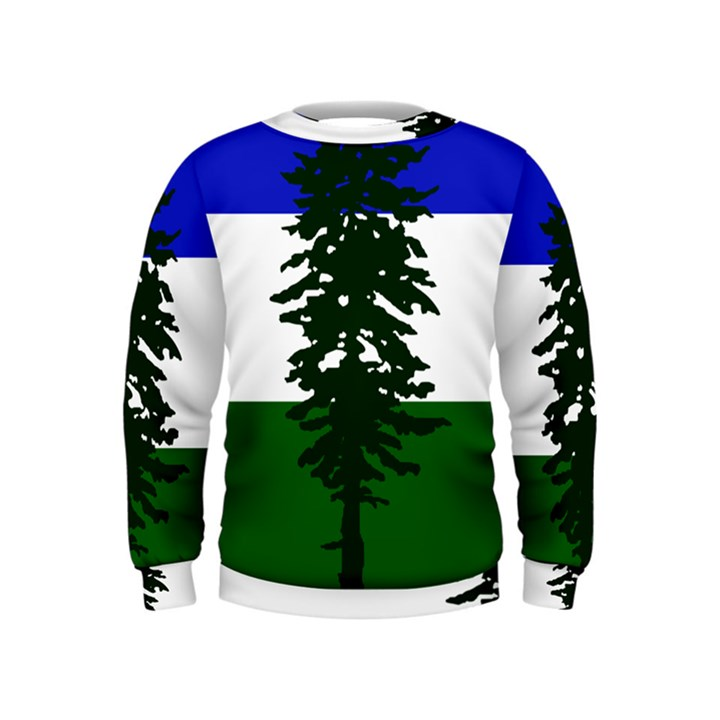 Flag of Cascadia Kids  Sweatshirt