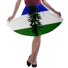 Flag Of Cascadia A Line Skater Skirt by abbeyz71