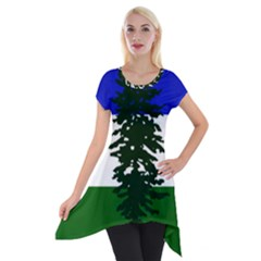 Flag Of Cascadia Short Sleeve Side Drop Tunic by abbeyz71