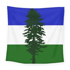Flag Of Cascadia Square Tapestry (large) by abbeyz71