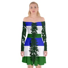 Flag Of Cascadia Off Shoulder Skater Dress by abbeyz71