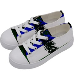 Flag Of Cascadia Kids  Low Top Canvas Sneakers by abbeyz71